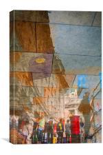 The Red Pillar Box, Canvas Print