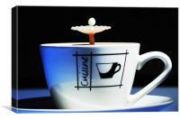 fluid Art coffee splash, Canvas Print