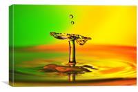 fluid Art droplet splash, Canvas Print