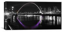 Millennium Bridge, Newcastle upon Tyne, Canvas Print