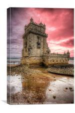 Torre de Belem Lisbon, Canvas Print