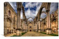 Igreja do Carmo Church Lisbon, Canvas Print