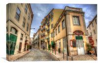 Backstreets Of Lisbon, Canvas Print