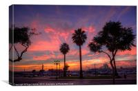 The Salmon Pink Sunset, Canvas Print