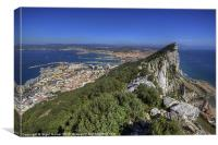 Top Of The Rock Of Gibraltar, Canvas Print