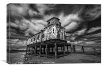 Lifeboat Station BW, Canvas Print