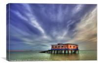 Lifeboat House, Canvas Print