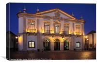 City Hall Faro at Night, Canvas Print