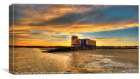 Lifeboat Station Sunset, Canvas Print