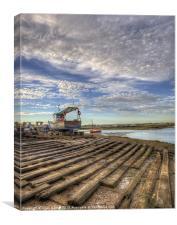 Boatyard Slipway, Canvas Print