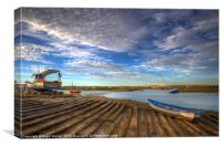 Boatyard Slipway, Canvas Print