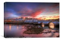 Tavira Twilight, Canvas Print
