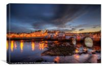 Tavira At Night, Canvas Print