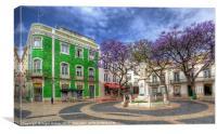 Jacaranda Square Lagos, Canvas Print