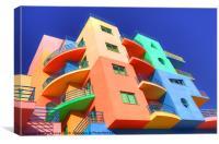 Rainbow House, Canvas Print