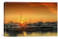 Marina Sunset, Canvas Print