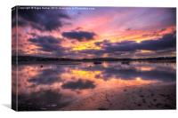 Purple Bembridge Sunset, Canvas Print