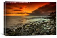 Steephill Cove Sunset, Canvas Print