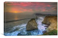 Freshwater Sea Stack Sunset, Canvas Print