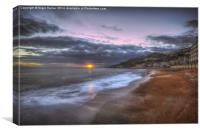 Ventnor Beach sunset, Canvas Print