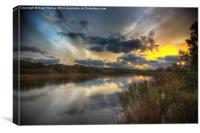 Bembridge Lagoon Sunset, Canvas Print