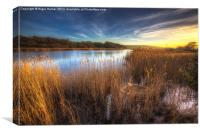 Bembridge Lagoons Sunset, Canvas Print