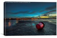 Ryde Sands at Night, Canvas Print