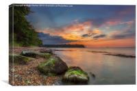 Fishbourne Beach Sunset, Canvas Print