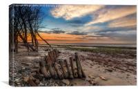 Bembridge Beach Sunset, Canvas Print