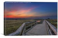 Sunset On The Boardwalk Newtown Isle Of Wight, Canvas Print