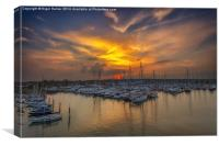Lymington Yacht Haven Sunset, Canvas Print