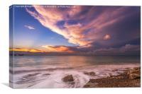 Sunset On The Beach , Canvas Print