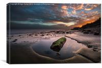 Rock Pool Sunset, Canvas Print