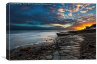 Slipway Sunset, Canvas Print