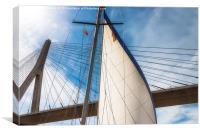 Shooting The Bridge, Canvas Print