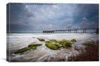 Stormy Totland Pier, Canvas Print
