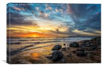 Sunset Isle Isle Of Wight, Canvas Print