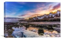 Seaview Sunset, Canvas Print