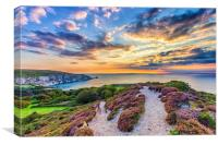 Sunset At The Needles Isle Of Wight, Canvas Print
