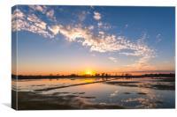 Salt Pan Sunset, Canvas Print