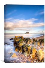 Bembridge Beach and Lifeboat Station, Canvas Print