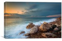 alum Bay Sunset 3, Canvas Print