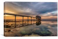 Bembridge Lifeboat Station Sunset, Canvas Print