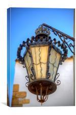 Street Lamp Detail, Canvas Print
