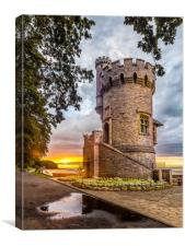 Appley Tower Sunset Ryde IOW, Canvas Print