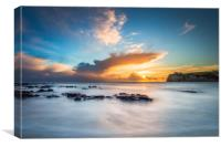 Freshwater Bay Beach Sunset, Canvas Print