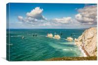 Big Boats At The Needles, Canvas Print