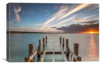 Sunset On Ryde Pier, Canvas Print
