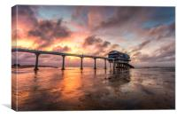 Sunset At The Lifeboat Station, Canvas Print