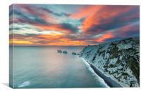The Needles Sunset, Canvas Print